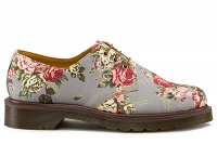 DR. MARTENS 1461 GREY VICTORIAN FLOWERS