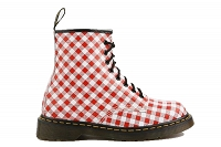 DR MARTENS 1460 WHITE - RED SQUARE