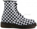 DR MARTENS 1460 WHITE - BLACK SQUARE