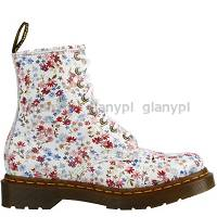 MARTENSY MODEL DR. MARTENS 1460 LITTLE FLOWERS WHITE KWIATKI