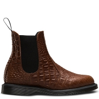 DR. MARTENS KENSINGTON FLORA CROCO DARK BROWN