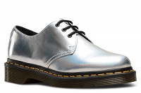 DR. MARTENS 1461 IM METALLIC LEATHER SILVER LAZER