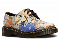 DR. MARTENS 1461 ORINTL MULTI EASTERN ART BACKHAND STRAW GRAIN
